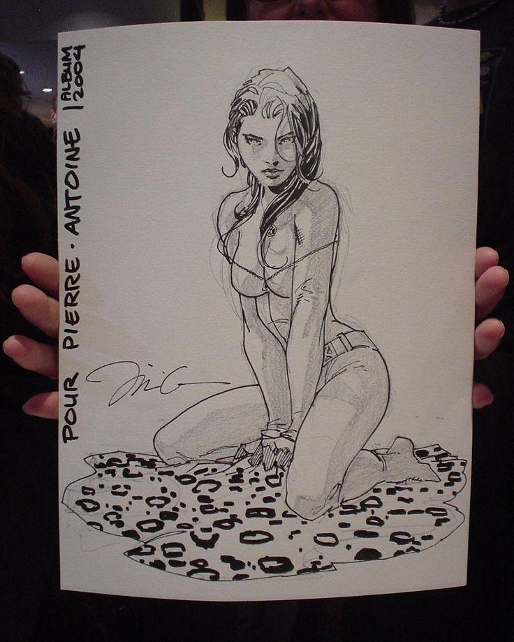A free sketch from 2004 for a fan, Album comic shop signing, Paris, France. #rogue #xmen #randomleopardrug