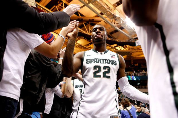 Photos from Michigan State's 72-68 overtime win over No. 3 Ohio State | MLive.com    #MSUCollegeBasketball