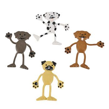 Dog Bendables.  These cute canines are happy to play around any way your pose them! Throw these pups into loot bags; great for a puppy themed birthday party!