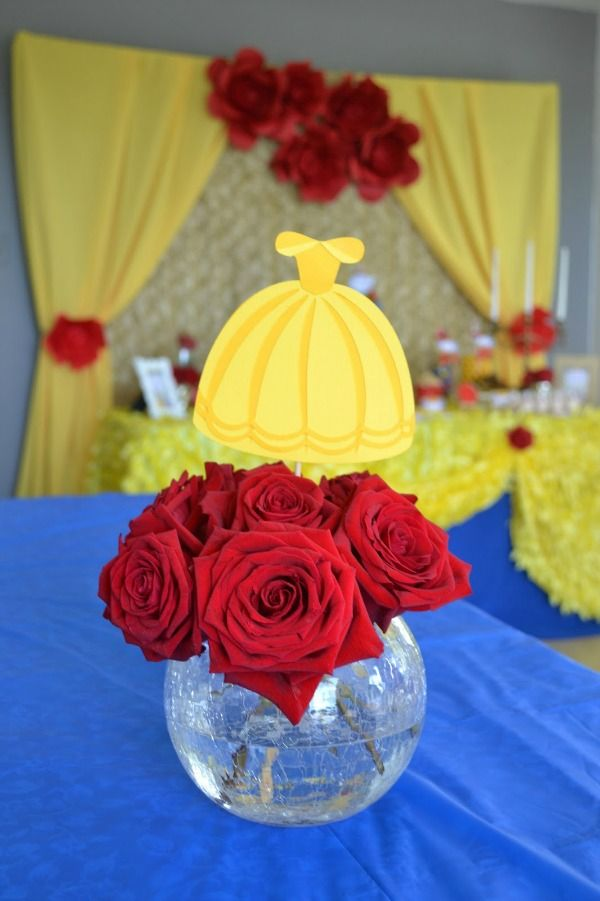 Enchanted Beauty and the Beast Birthday Party   Pretty My Party