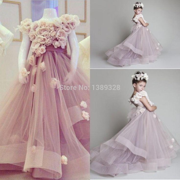 pas cher charme 2015 krikor jabotian robes de demoiselle avec fleurs a ligne chantillon r el. Black Bedroom Furniture Sets. Home Design Ideas