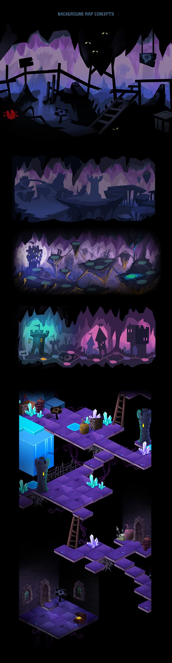 Mighty Monsters Map Concepts on Behance