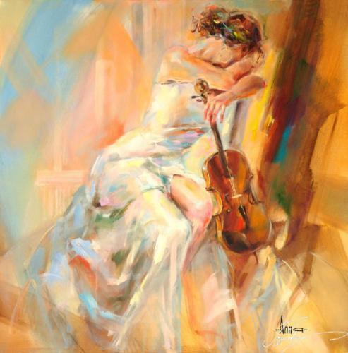 WHITE NOTE 4 by Anna Razumovskaya