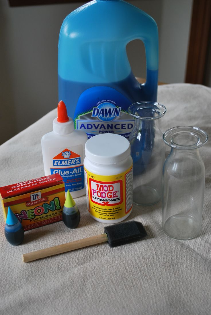 how to make your clear glass into color glass DIY