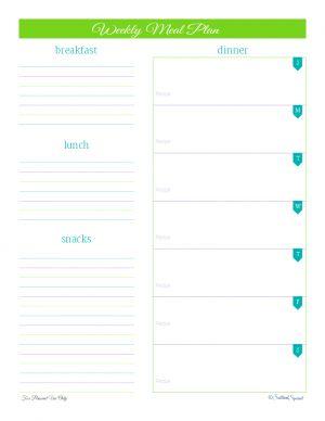 free printable, meal planning, home management binder