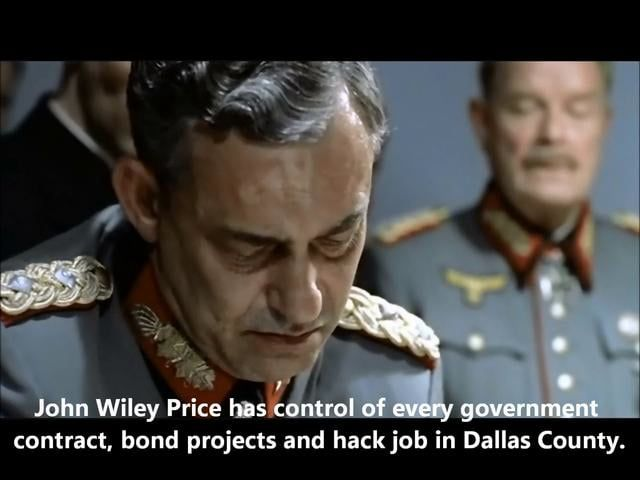 Adolf Hitler learns the FBI is raiding John Wiley Price's Dallas County Commissioner office while Mayor Rolodex is being sworn in at the Meyerson.