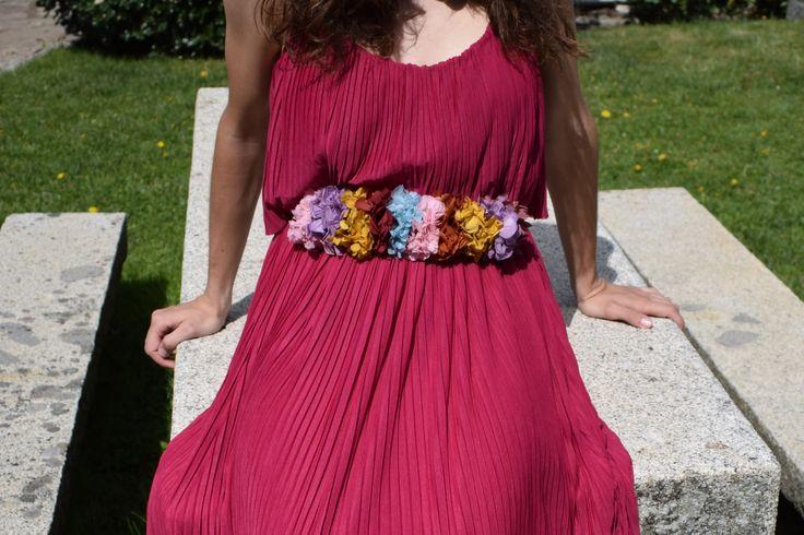 Cinturones de flores preservadas
