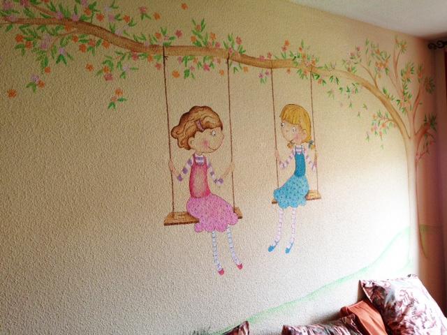 Mejores 126 im genes de murales infantiles en pinterest - Murales para ninas ...