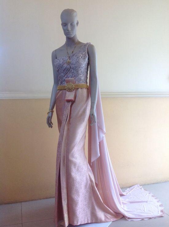 ชุดไทยประยุกต์ ชุดไทยสมัยใหม่ แบบชุดไทยประยุกต์   ชุดไทยผ้าลูกไม้