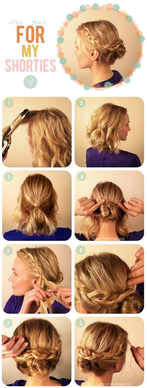 Hot Crossed Bun for Short Hair-- Homecoming!!