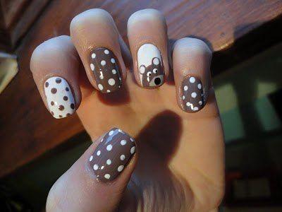 Polka Dots, Nails Art, Nailart, Cute Nails, Accent Nails, Nails Design, Teddy Bears, Bears Dots, Nail Art