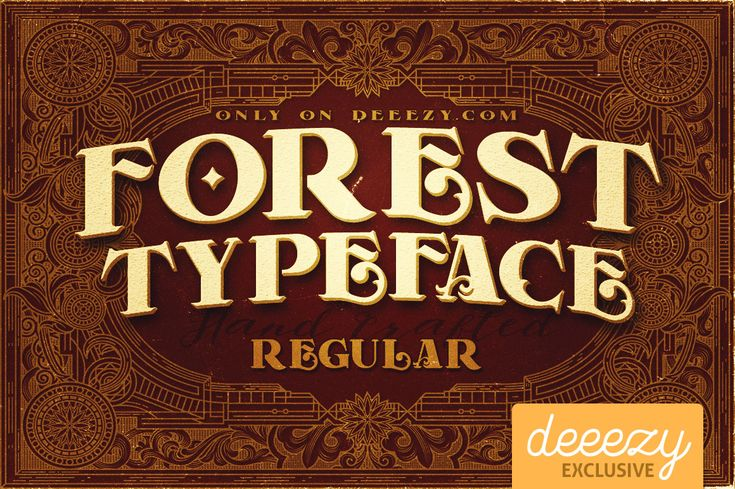 Forest Regular Font | Deeezy - Freebies with Extended License