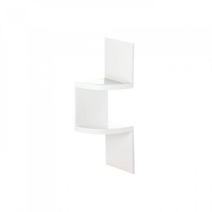 2-tier White Corner Shelf - The corner of your room is no longer wasted space! This white wall shelf is truly a work of functional art that will transform an empty corner into a show-stopper. It has two small shelves that are perfect for collectibles. You can use it in any room to amplify the style and show off your impeccable taste.