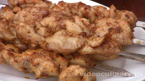 Шашлык из куриных окорочков - фото-рецепт и видео рецепт