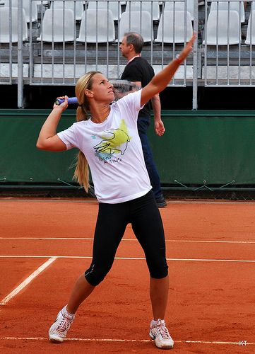"Dominika Cibulkova, at 5'3"" is my athlete inspiration. short girls can kick butt, too!"