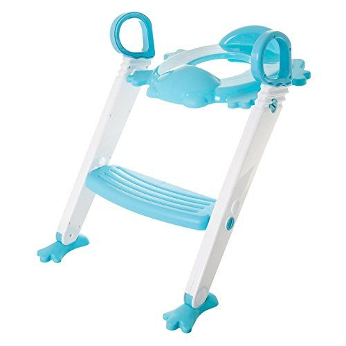 FiNeWaY@ BABY KIDS/TODDLER/CHILD TOILET POTTY TRAINING STEP LADDER TOILET SEAT STEPS ASSISTANT POTTY FOR TODDLER CHILD TOILET TRAINER (BLUE )