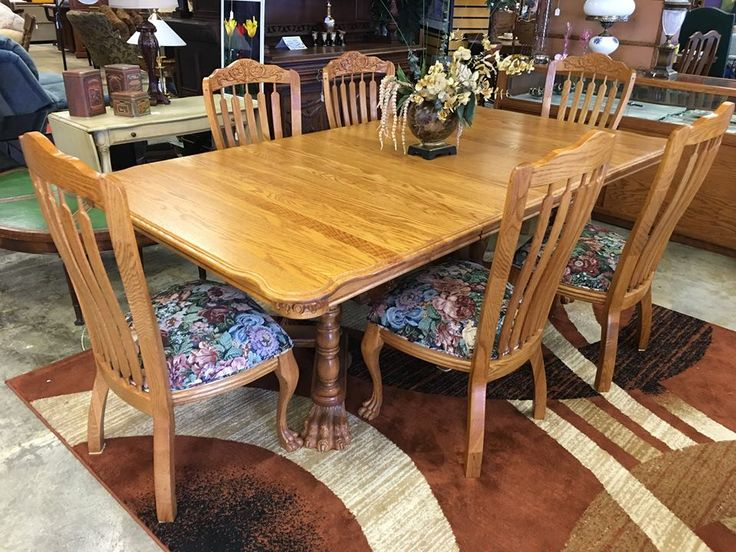 Elegant Come By Mk Consignment And Take A Look At This Stunning Oak Table And Six  Chairs For $995 #mk #consignment #furniture #home #sale #deal #wichita  #kansas ...