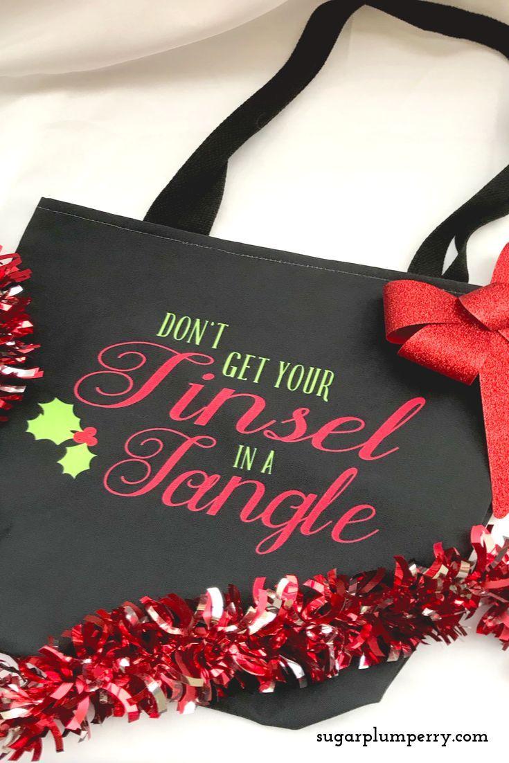 Tinsel In A Tangle Tote Bag Tote Bag Bags Tote
