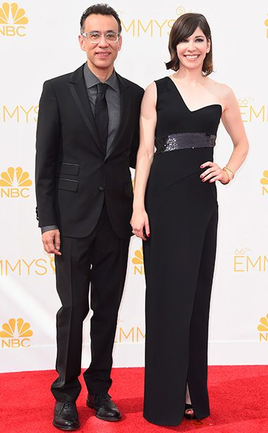 Fred Armisen and Carrie Brownstein at the Primetime Emmy Awards 2014