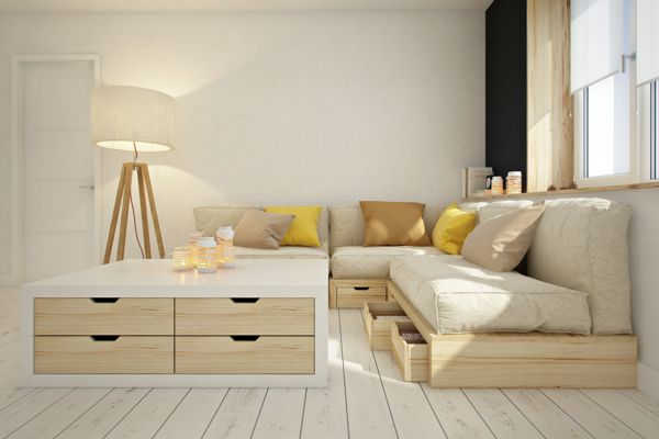Living in a shoebox | This apartment is all about storage