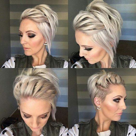 Long Undercut Pixie - Perfectly Imperfect Messy Braids for Short Hair - Photos
