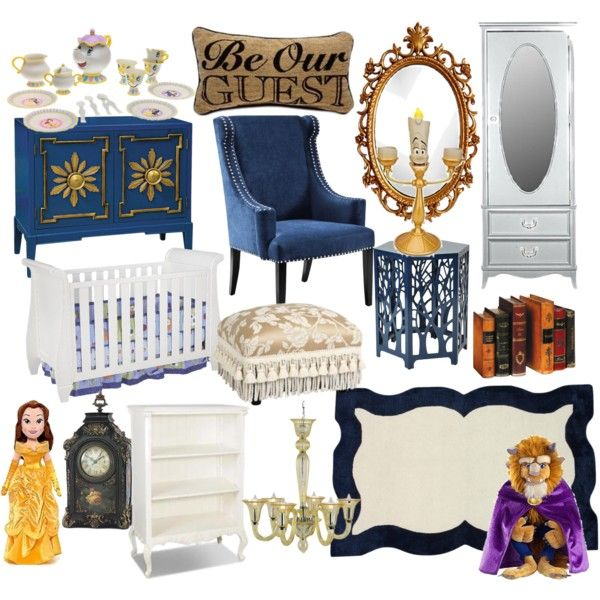 """Beauty and the Beast (Belle) nursery"" by molly-pop on Polyvore"
