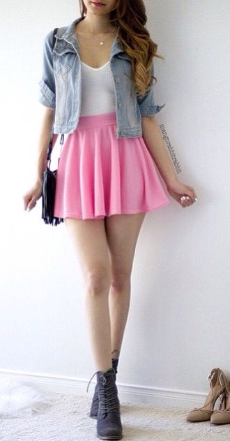 Best 25+ Pink skater skirt ideas on Pinterest ...