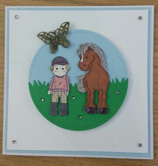 Födelsedagskort till hästtjej