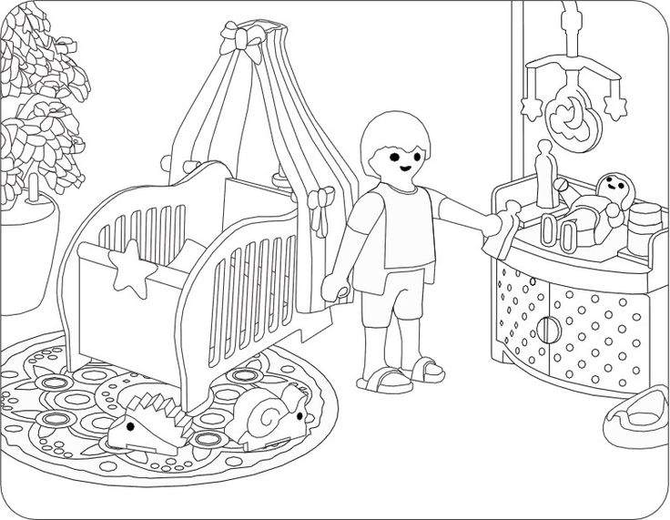Ausmalbilder playmobil kinderzimmer ausmalbilder for Kinderzimmer playmobil