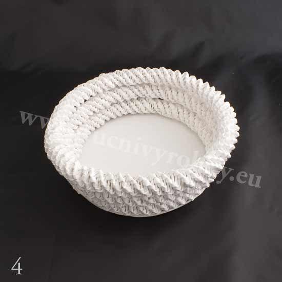 плетение из газет. белый лебедь (5) (550x550, 54Kb)