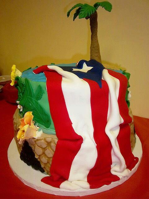 Cake A La Boricua Beautiful My Puerto Rico Cupcake