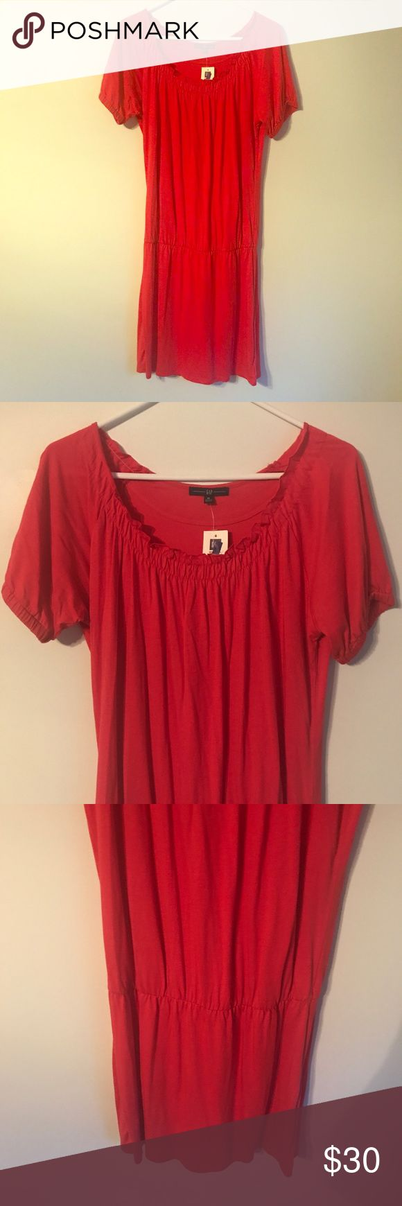 "NWT Gap Dress Medium Peasant Style Short Sleeve New with tags. Size medium. Measurements taken laid flat: bust approximately 18 1/2"", length approximately 41"" GAP Dresses Midi"