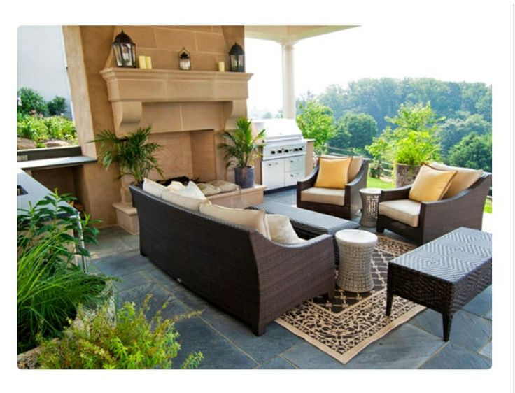 Fancy Backyard Barbecue Patio! | Living space decor ... on Fancy Outdoor Living id=44706