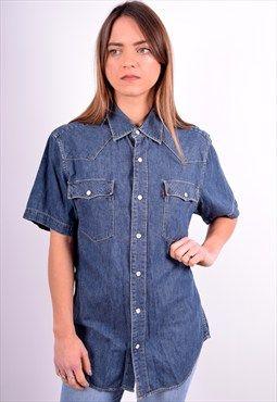 Levi's Womens Vintage Denim Shirt Size 16 Blue 90's