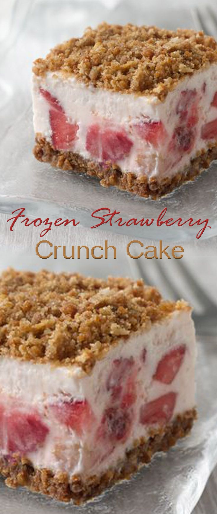 My Frozen Strawberry Crunch Cake                                                                                                                                                                                 Más