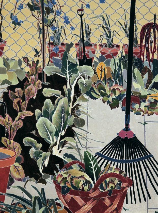 Vegetable garden :: Cressida Campbell