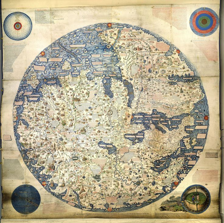 1450 Map of the World by Venetian