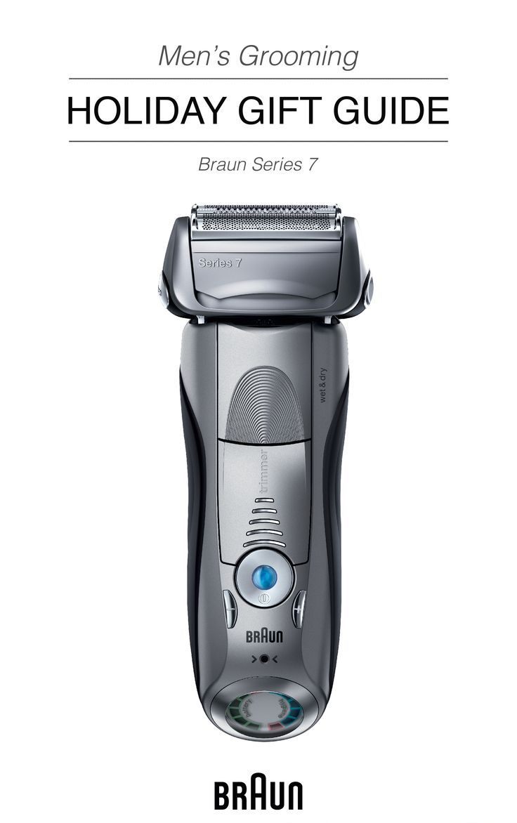 Found! The perfect grooming gift idea for your husband, father, boyfriend, or brother. The Braun Series 7 Electric Shaver, shaves in 1 stroke what others do in 2.* Give the gift of a close shave with this streamlined shaving tool.    *Compared to previous Braun generations