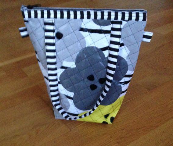 Toilettaske syet efter mønster fra Gittea Patchwork.