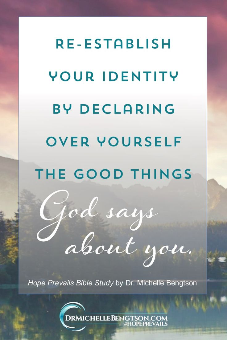 Every day the enemy whispers (or shouts!) lies at you to destroy your identity and make you depressed. The best way to combat the enemy is with the truth of God's Word.  Declare God's word over yourself.  You are beautiful! Psalm 45:11  You are an overcomer! Romans 8:37  You are a masterpiece and you are destined for greatness! Ephesians 2:10  ~ Dr. Michelle Bengtson from Hope Prevails Bible Study, available October 25, 2017.  #HopePrevailsBibleStudy #depression #mentalhealth