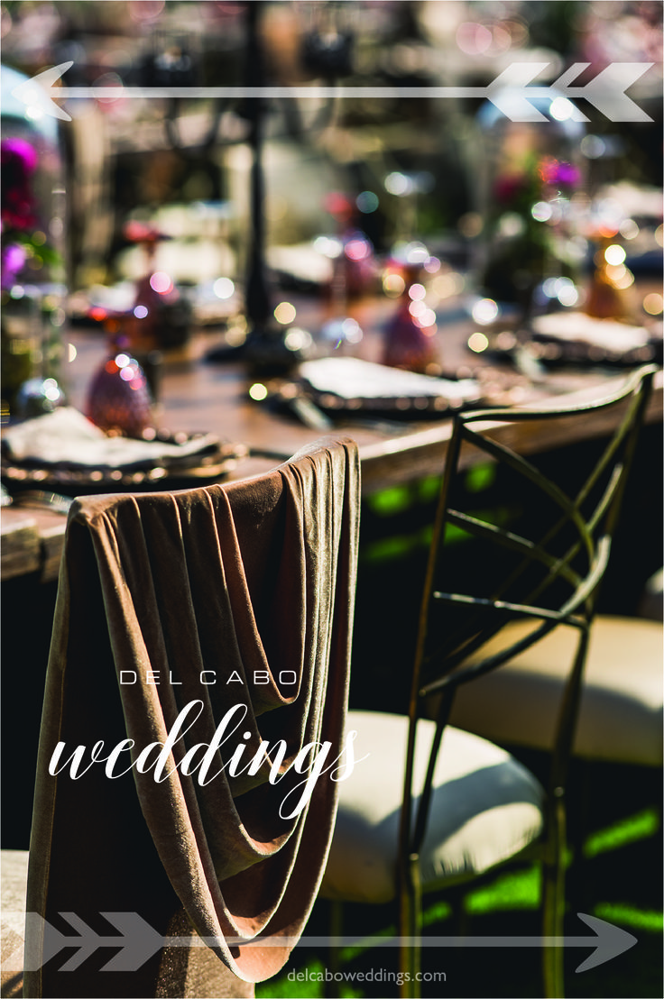 Create your own wedding theme! With Del Cabo Weddings you can have the wedding you always dreamed of!