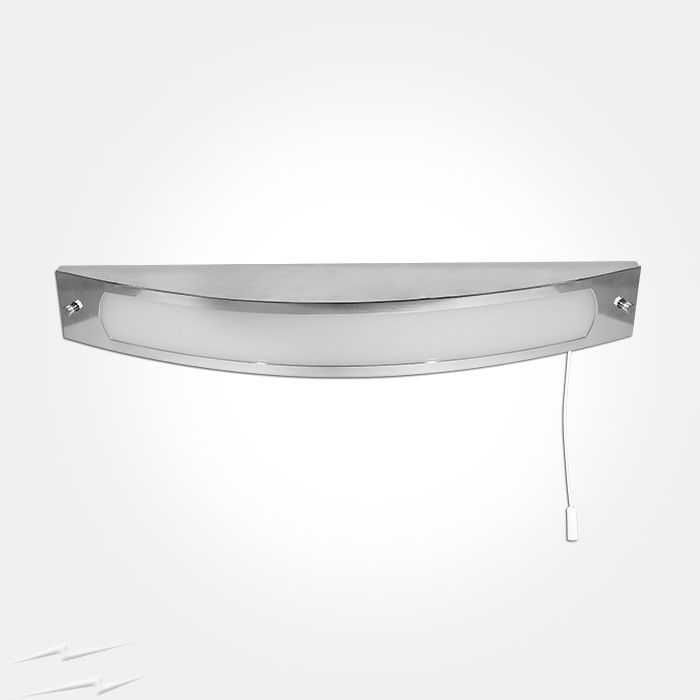 12W LED Polished Chrome Over Mirror Light 3000K 880lm with Pull Cord Switch for Bathroom