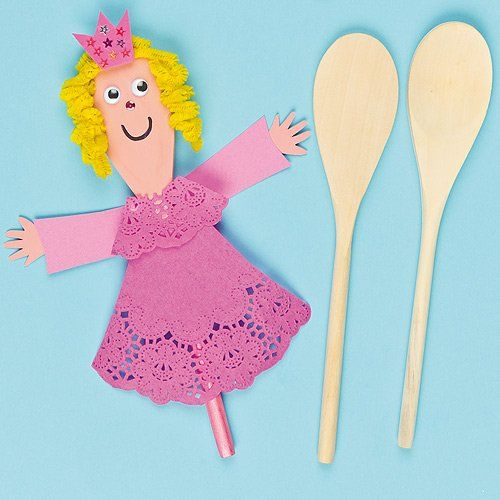 Wooden Spoon Pals for Children to Paint, Decorate, Puppet Making