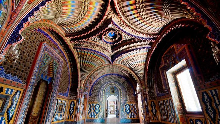 Castello di Sammezzano, Tuscany - Top 10 weird places to visit in Italy - Sammezzano Castle was built in 1605 by Spanish nobility for Ximenes of Aragon. After the Second World War it was used as a luxury hotel until its closure in the 1990s. Despite some restoration work in 1999, it has been largely abandoned and closed to the public. Sammezzano Castle is in the Moorish style and has 365 rooms, one for every day of the year.  It is surrounded by parkland of 450 acres, one of the largest in…