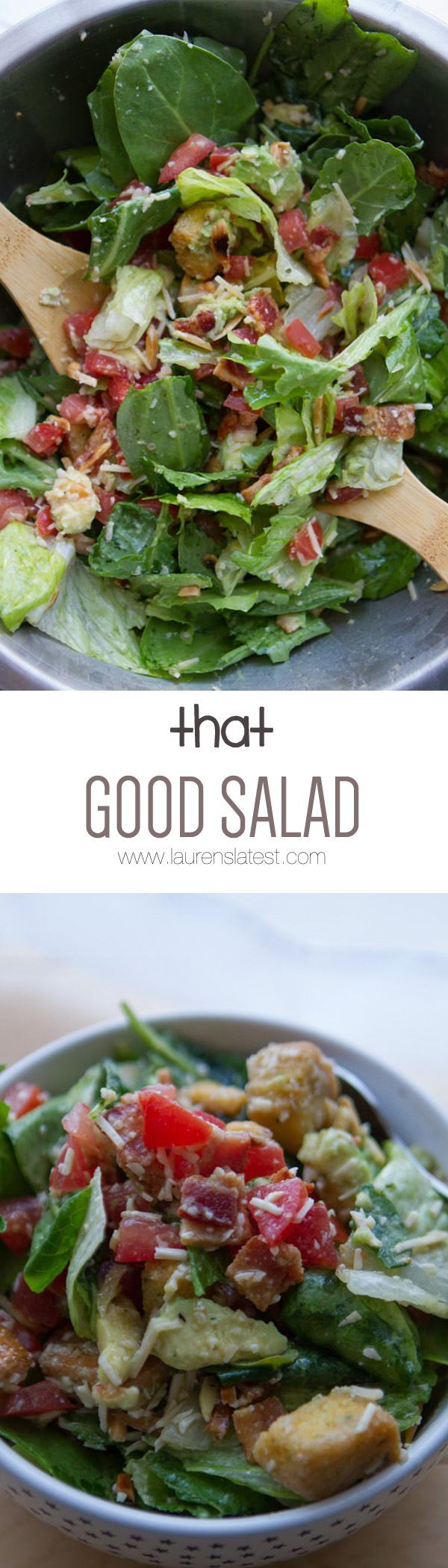 That Good Salad... It's hard to resist all the flavors that are in this salad! Bring it to a potluck and everyone is going to be begging for the recipe!