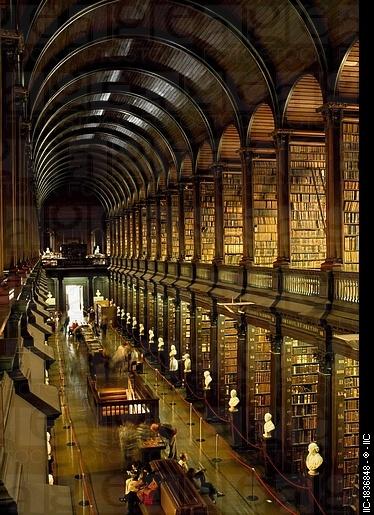 The Long Room, Trinity College Library, Dublin.