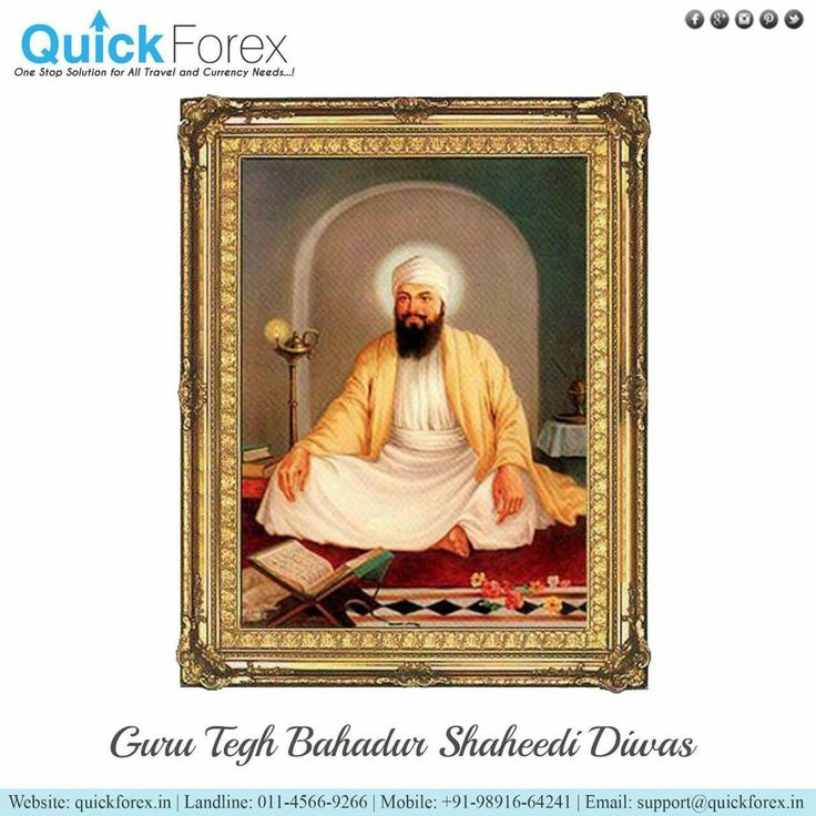 Guru Tegh Bahadur (1 April 1621 – 24 November 1675) revered as the ninth Nanak, was the ninth of ten Gurus of the Sikh religion. Tegh Bahadur continued in the spirit of the first guru, Nanak; his 115 poetic hymns are in the text Guru Granth Sahib. Tegh Bahadur resisted the forced conversions of Kashmiri Pandits and non-Muslims to Islam, and was publicly beheaded in 1675 on the orders of Mughal emperor Aurangzeb in Delhi for refusing to convert to Islam. The #martyrdom of #Guru Tegh Bahadur…