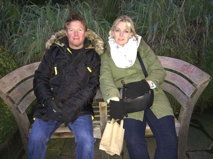 Mommy and daddy on a bench aside the river Thames..looking very tired #parents