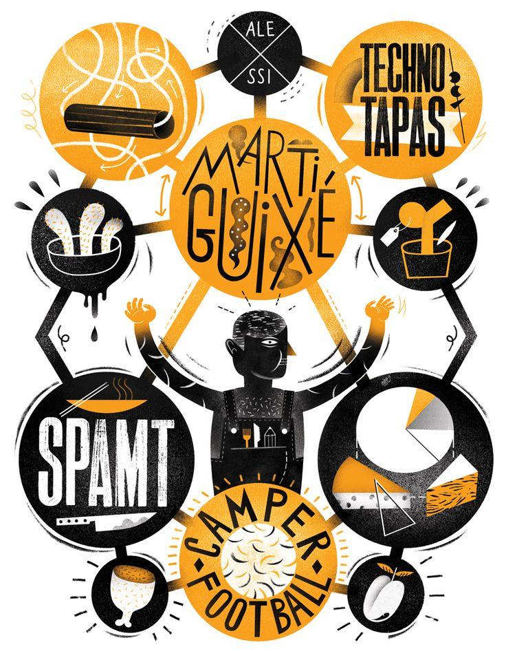 W nowym KUKBUK-u w dziale FOOD DESIGN moja nowa ilustracja do wywiadu z designerem Martim Guixe! Polecam bo fajne rzeczy robi!!! Smacz...