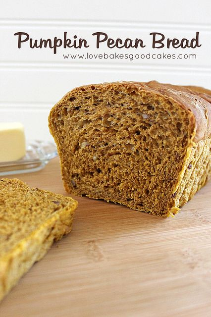 Pumpkin Pecan Bread 5 for the bread machine by lovebakesgoodcakes. *Sub GF bread flour. ☀CQ #glutenfree